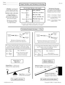 Mechanical Advantage Lesson Plans & Worksheets | Lesson Planet