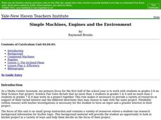 Simple Machines, Engines and the Environment Lesson Plan