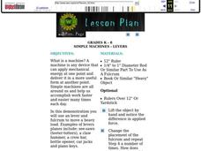 Simple Machines: Levers Lesson Plan