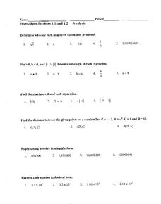 Simplifying Expressions Worksheet