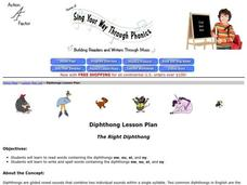 Sing Your Way Through Phonics Lesson Plan Lesson Plan