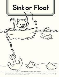 Sink And Float Worksheet For Kindergarten