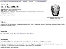 Site Robbers Lesson Plan