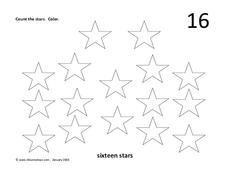 Sixteen Stars Worksheet