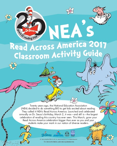 Read Across America Classroom Activity Guide Lesson Plan
