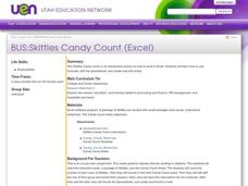 Skittles Candy Count Lesson Plan