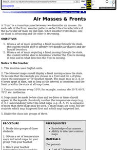 Air Masses & Fronts Lesson Plan