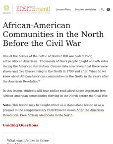 African-American Communities in the North Before the Civil War Lesson Plan