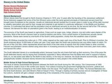Slavery in the United States Lesson Plan