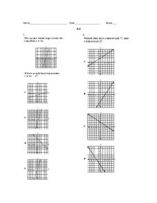 Slope Intercept Form Worksheet