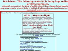Airplane flight Lesson Plan