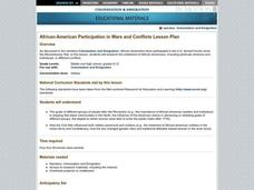 African-American Participation in Wars and Conflicts Lesson Plan