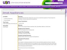 Small Appliances Lesson Plan