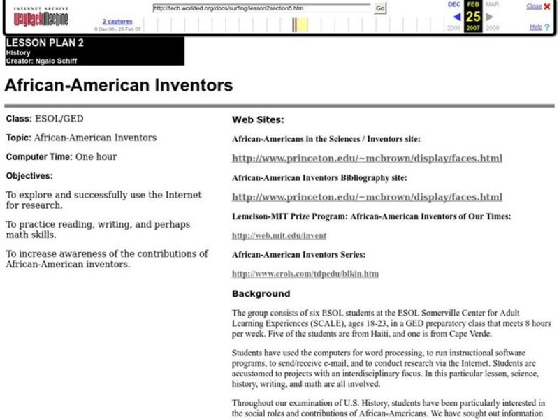 African-American Inventors Lesson Plan