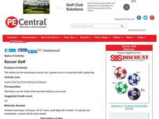Soccer Golf Lesson Plan
