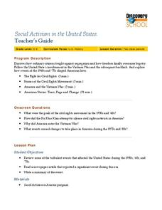 Social Activism in the United States Lesson Plan