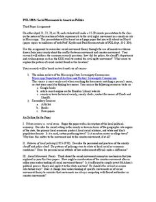 Social Movements in American Politics Worksheet