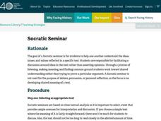 Socratic Seminar Lesson Plan
