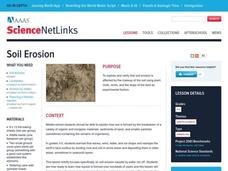 Soil Erosion Lesson Plan
