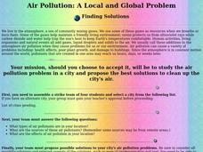 Air Pollution: A Local and Global Problem Lesson Plan