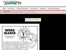 Solar System Word Search Worksheet