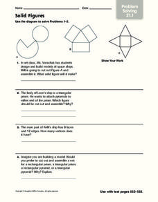 Solid Figures Worksheet