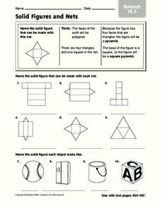 solid figures and nets worksheet for 4th 6th grade lesson planet. Black Bedroom Furniture Sets. Home Design Ideas