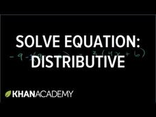 Solving Equations with the Distributive Property Video