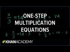 Solving One-Step Equations 2 Video