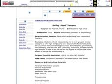Solving Right Triangles Lesson Plan