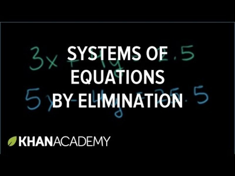 Solving Systems of Equations by Elimination Video