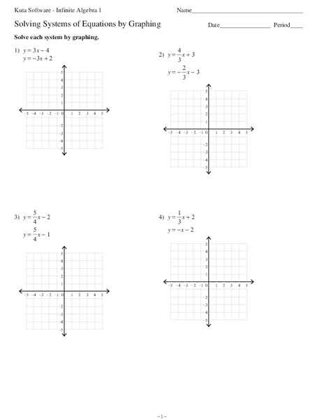 Solving Systems By Graphing Worksheet 2 - solving systems of ...