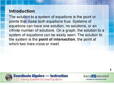 Solving Systems of Linear Equations Presentation