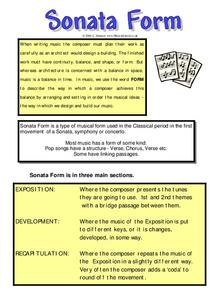 Sonata Form Worksheet