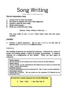 Song Writing Worksheet