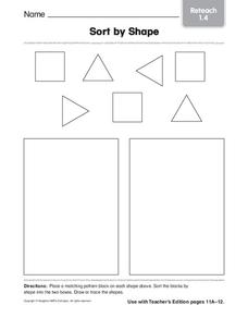 Sort By Shape Worksheet