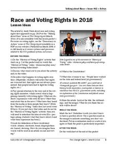 Race and Voting Rights in 2016 Lesson Plan