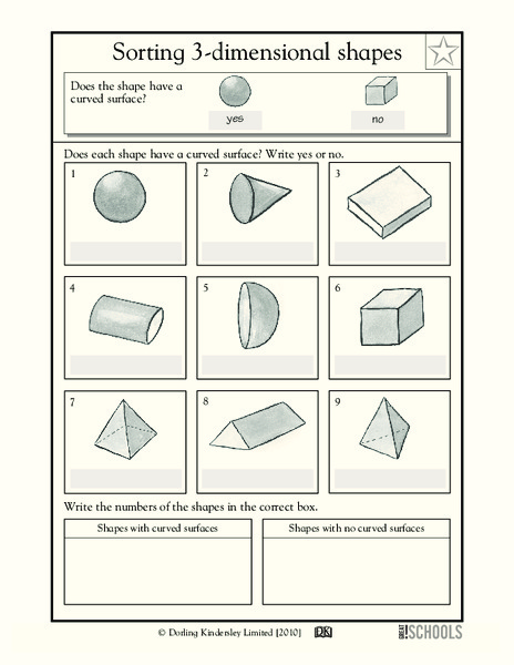 sorting 3 dimensional shapes worksheet for 2nd 3rd grade lesson planet. Black Bedroom Furniture Sets. Home Design Ideas