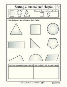 sorting 2 dimensional shapes worksheet for 2nd 3rd grade lesson planet. Black Bedroom Furniture Sets. Home Design Ideas