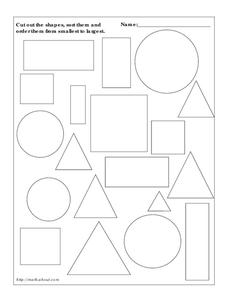 Sorting Shapes Worksheet