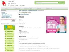 Sorting Words Lesson Plan