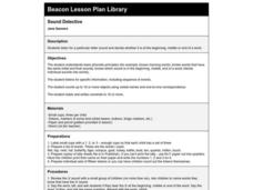 Sound Detective Lesson Plan