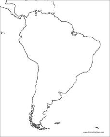 South America Outline Map Graphic Organizer for 4th - 10th ...