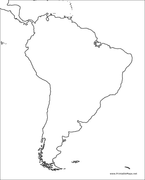 Map Of America Outline.South America Outline Map Graphic Organizer For 4th 10th