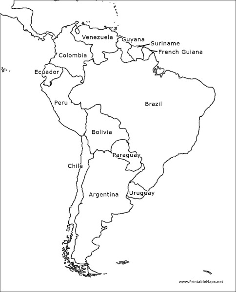 south america outline map graphic organizer for 6th