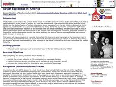 Soviet Espionage in America Lesson Plan