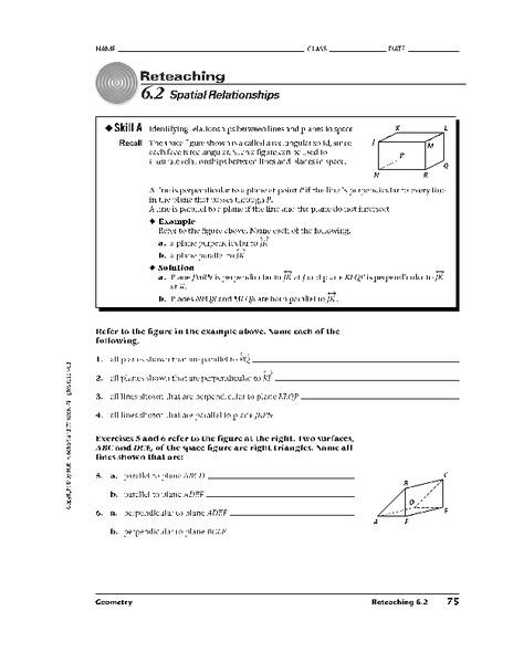 Spatial Relationships Worksheet For 10th Grade Lesson Planet