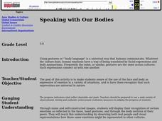 Speaking with Our Bodies Lesson Plan