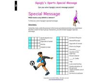 Special Message Worksheet
