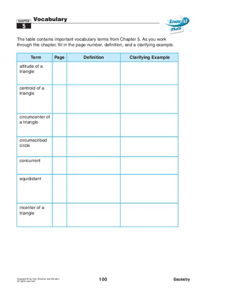 Special Segments In A Triangle Lesson Plan For 10th Grade